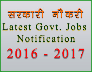 Government job 2016 - 2017 Online APplication