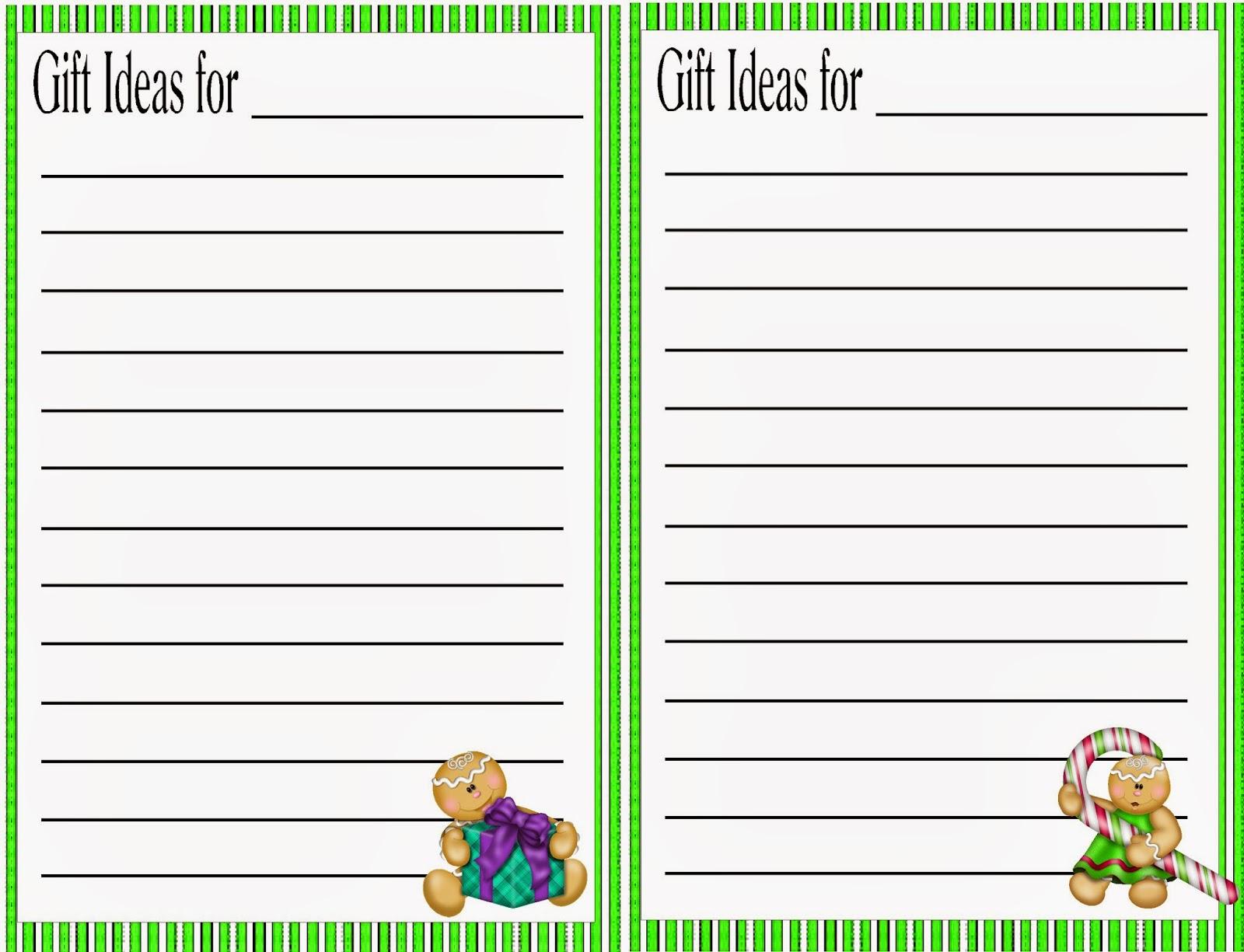 Christmas T Ideas Planner Printable