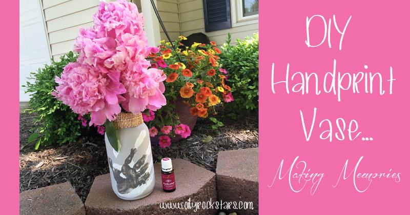 DIY Handprint Vase... Making Memories - Oily Rockstars