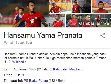 Hansamu Yama Profil Biografi Pemain Sepak Bola Dunia