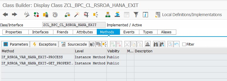 AMDP based BEx Customer HANA Exit