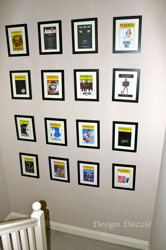 Playbills As Wall Art Design Dazzle
