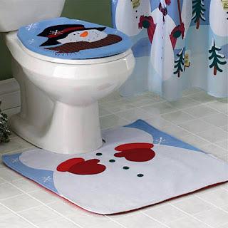 alfombra de baño de navidad