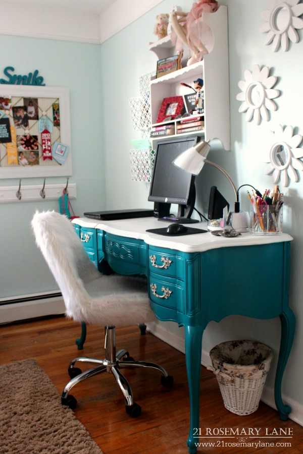 darling faux fur desk chair another great buy from home goods