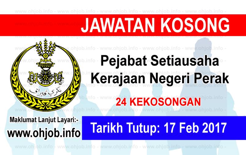 Jawatan Kerja Kosong Pejabat Setiausaha Kerajaan Negeri Perak logo www.ohjob.info februari 2017