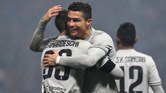Christiano Ronaldo Celebrates Juventus Goal