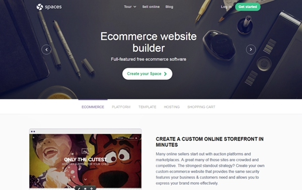 GoSpaces eCommerce Website Builder