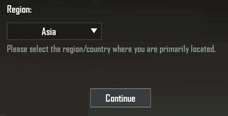 Pengaturan Region Asia