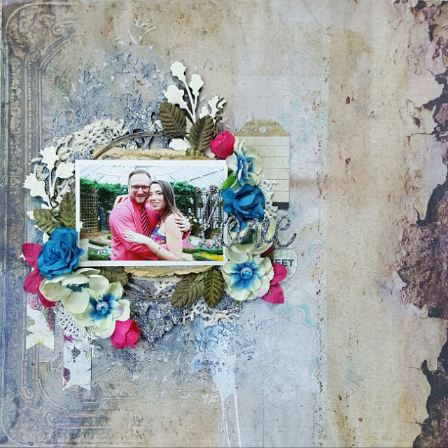 Blue Fern Studios Tattered Walls Love Colorful