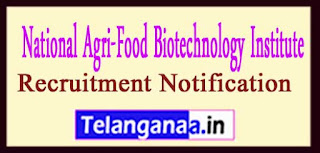 NABI National Agri-Food Biotechnology Institute Recruitment Notification 2017 Last Date 29-05-2017