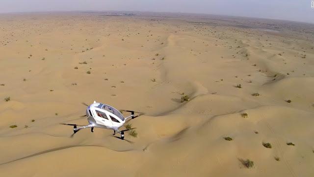 Ehang 184 Drone Berawak Bertama Yang Mengudara Dengan Bebas