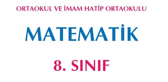 8. Sınıf Matematik Ekoyay Yayınları