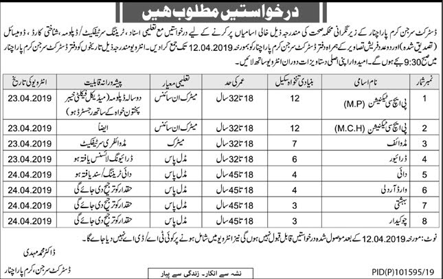 Health Department KPK Jobs 2019 Government of Khyber Pakhtunkhwa Jobs 2019