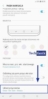 Samsung Galaxy S9+ Ustawienia Układ Przycisków Nawigacyjnych