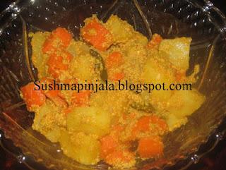 Aloo Carrot Posto
