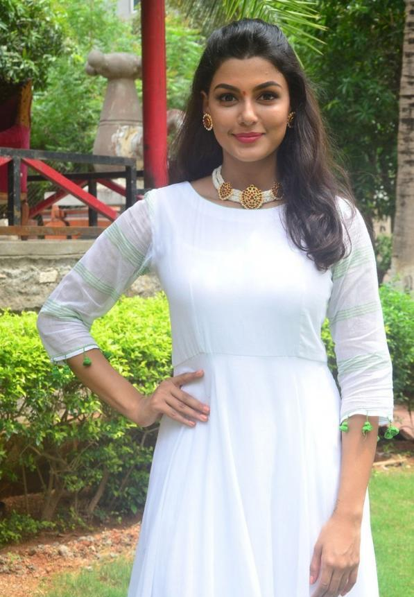 Anisha Ambrose Latest White Dress Stills