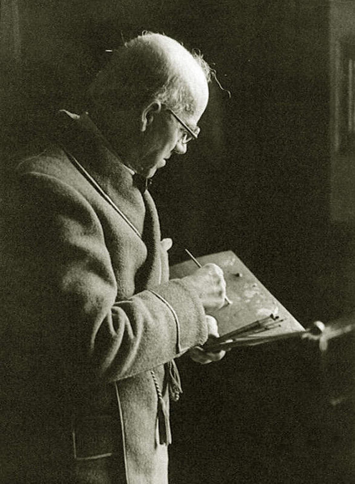 Eugenio Hermoso Pintando
