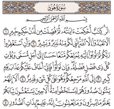 Tafsir Surat Hud Ayat 1, 2, 3, 4, 5