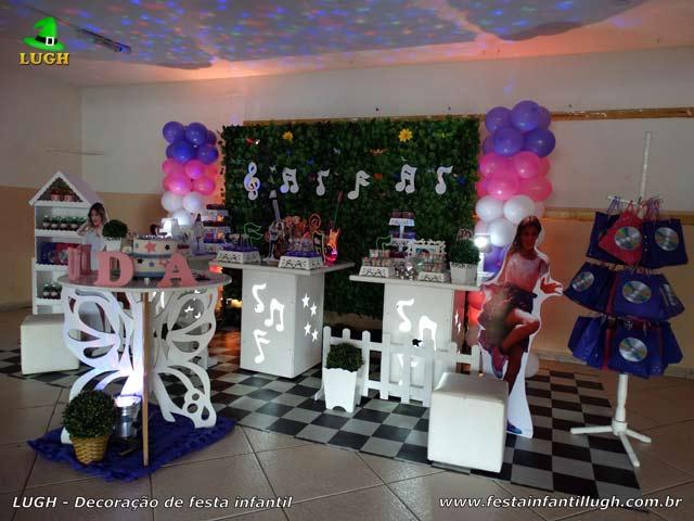 Decoração de festa tema Violetta - Aniversário feminino - Recreio - RJ