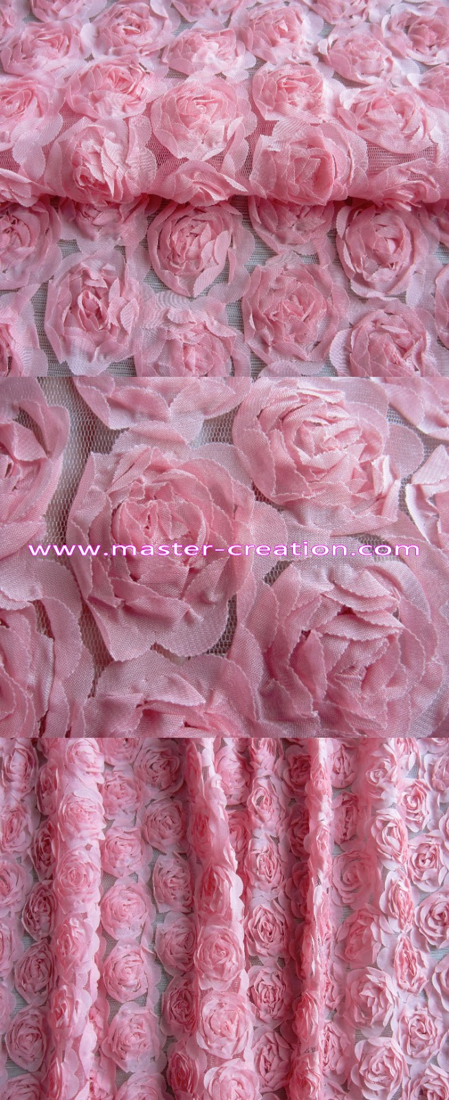 pink rose lace gauze.