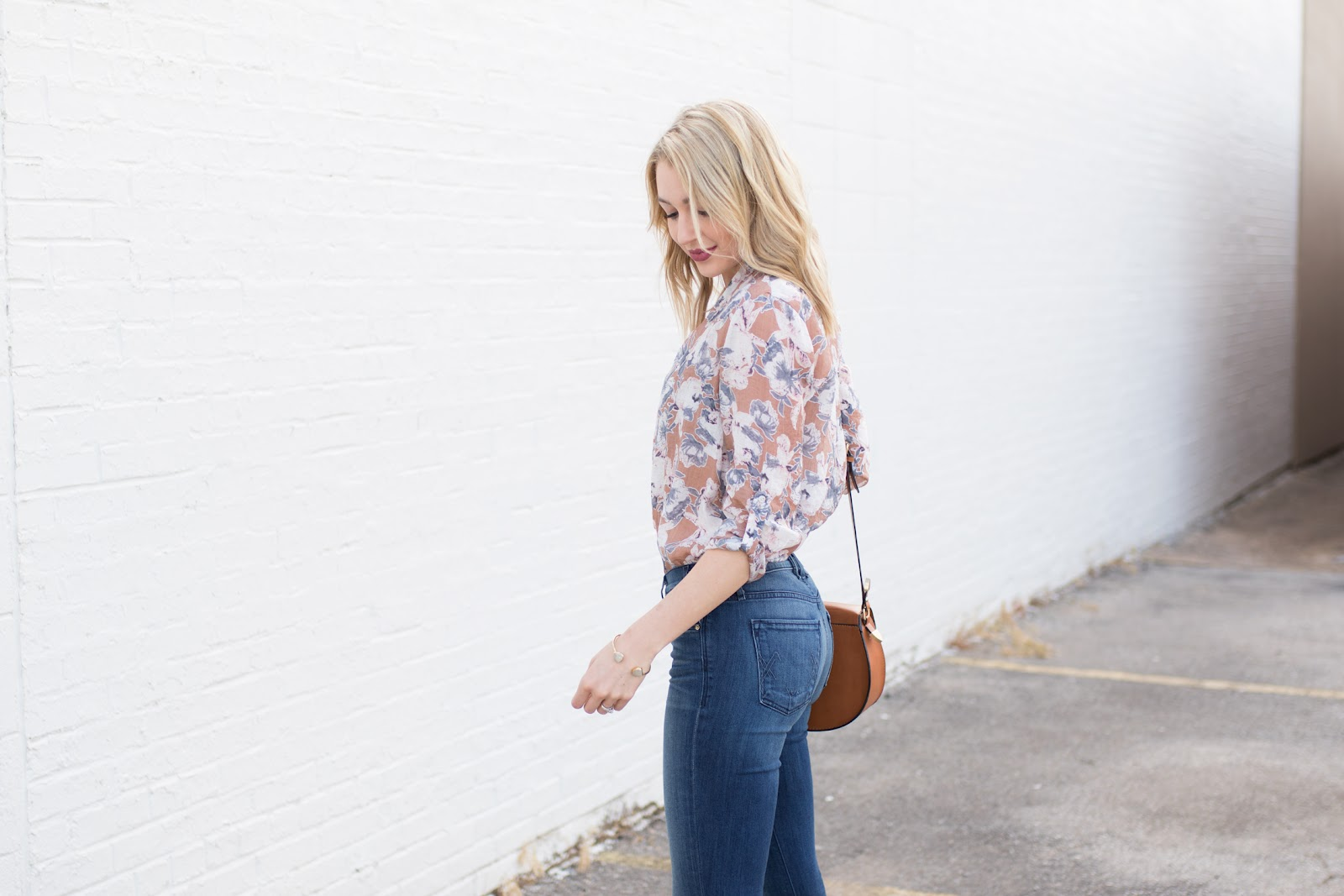 Muted floral top