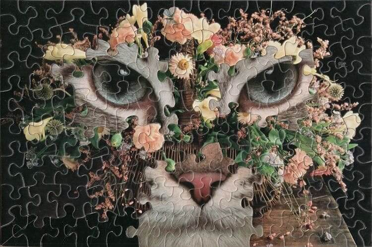 This Artist Creates Hyperrealistic Mashups By Using Jigsaw Puzzles