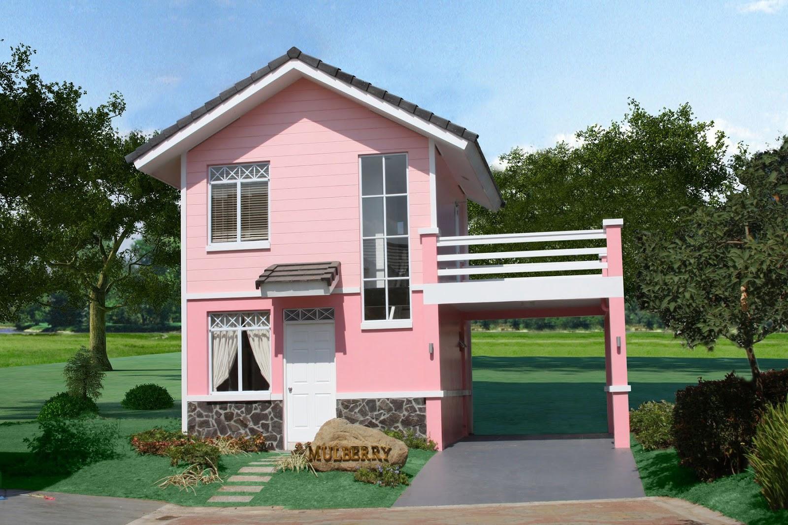 Müstakil evler tek katlı, iki katlı veya üç katlı olurlar. Villa Modelleri: Pembe boyalı küçük bir villa modeli - FOTO