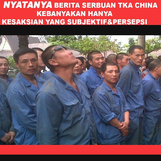 Pemerintah Pastikan Isu Serbuan Ratusan Ribu TKA China Tak Benar