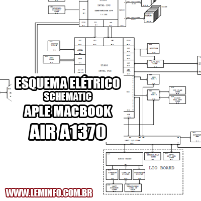 Esquema Elétrico Notebook Laptop Apple Macbook Air A1370