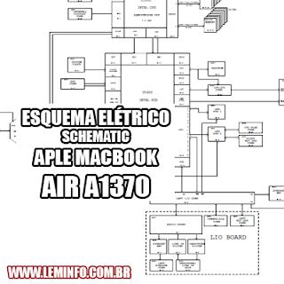 Esquema Elétrico Notebook Laptop Apple Macbook Air A1370 Manual de Serviço  Service Manual schematic Diagram Notebook Laptop Apple Macbook Air A1370    Esquematico Notebook Laptop Apple Macbook Air A1370