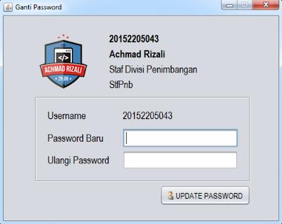 Form Ganti Password (Untuk Semua User)
