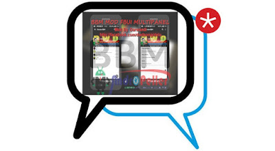 BBM Mod FBUI Multipanel v3.0.0.18 Apk Black White Color Terbaru Gratis