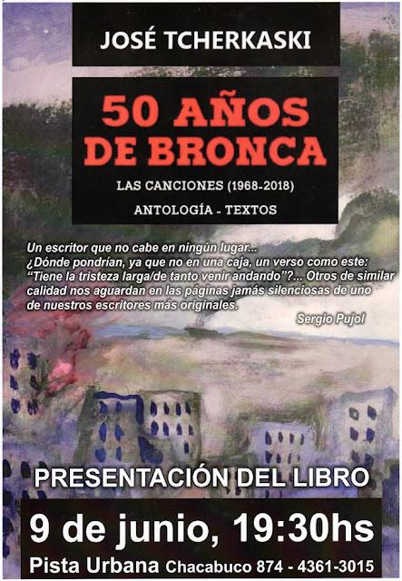 """""""50 Años de Bronca"""" una antología con motivo del cincuentenario de la canción """"MI Viejo"""" de José Tcherkaski"""