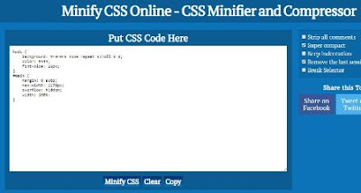 Minify CSS Online