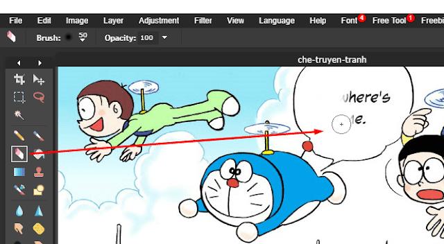 Chế truyện tranh Manga với Photoshop online