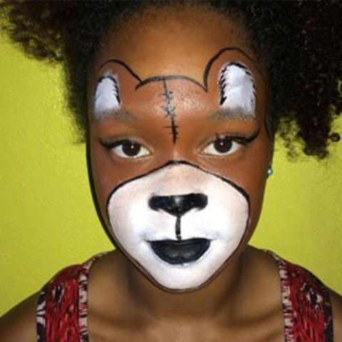 Bear Face Paint Design