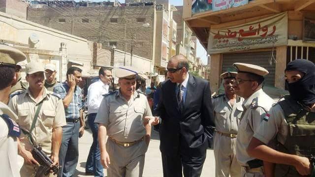 مدير أمن بني سويف يقود حملة مكبرة من إزالة وإشغالات بمدينة «ببا»