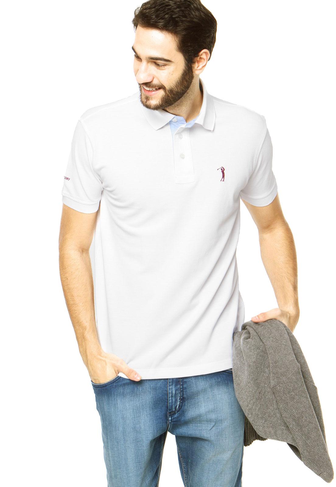 b2860c596a Cabide Masculino  Dress code de verão no trabalho  camisa polo lisa ...