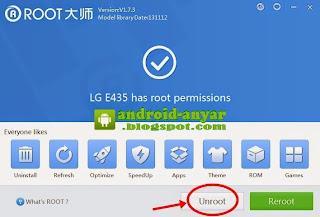 Unroot LG L3 E435