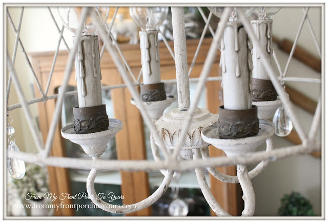 French Farmhouse-Breakfast Nook-French Chandelier-From My Front Porch To Yours