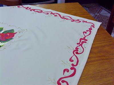 toalha de mesa de oxford pintada a mão