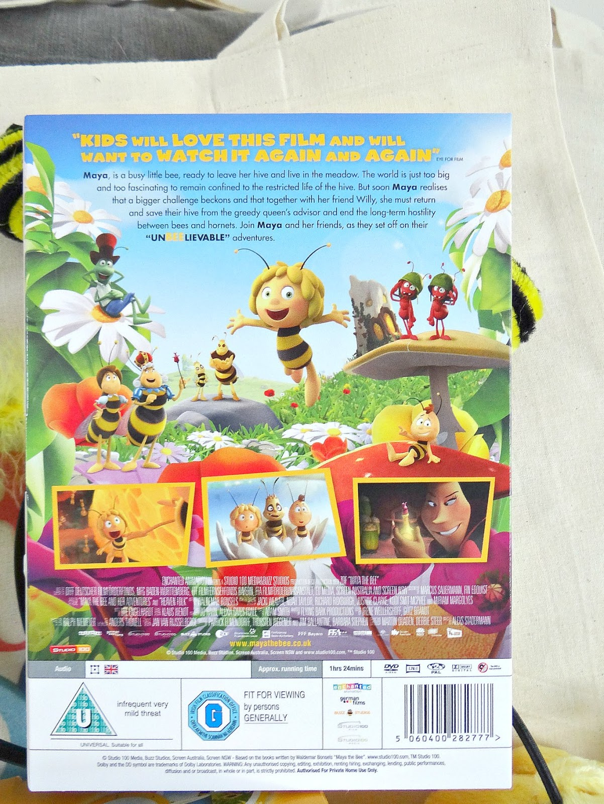 Maya the Bee movie, Half Term holiday to do, Maya the Bee DVD