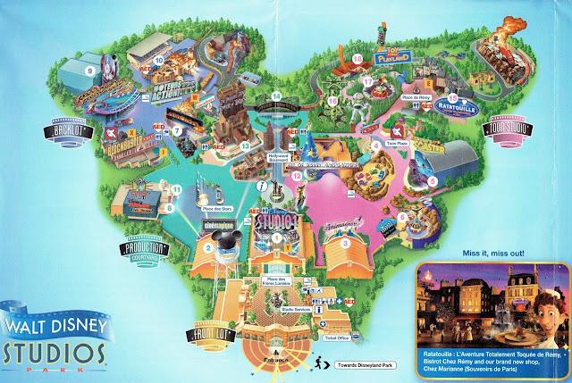 Walt Disney Studios mapa