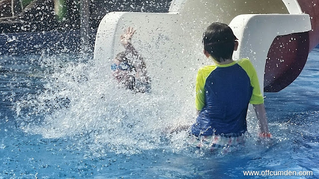 Water slide action shot