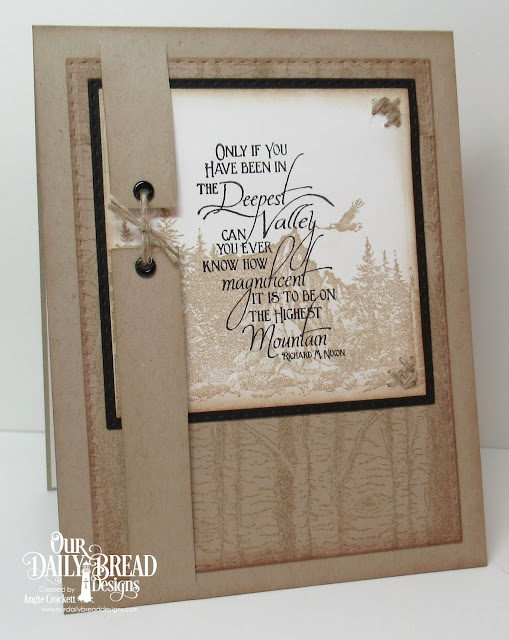 ODBD Keep Climbing, ODBD Mountains, ODBD Birch Background, ODBD Custom Double Stitched Squares Dies, ODBD Custom Double Stitched Rectangles Dies, Card Designer Angie Crockett