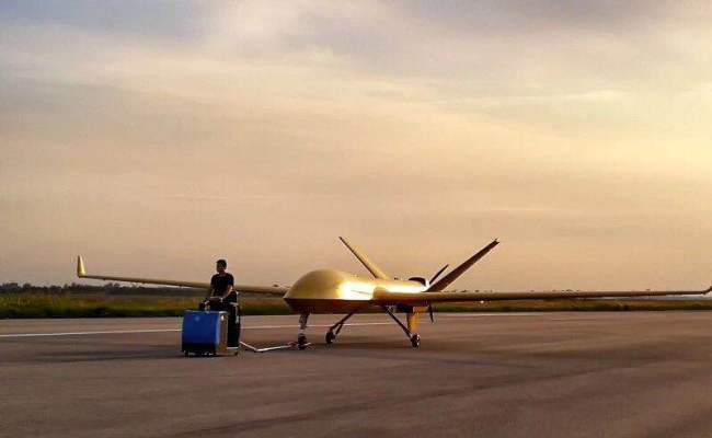 sky sentry drone taxiing