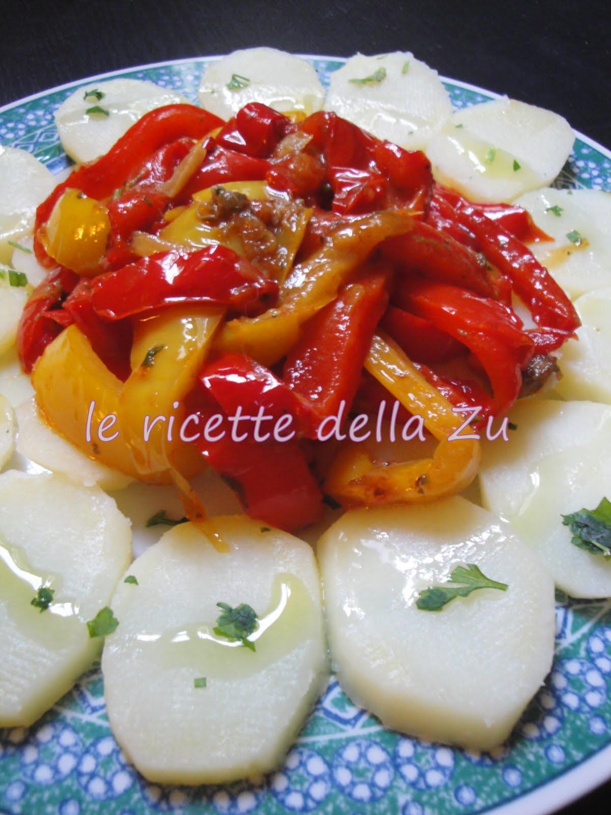 Le ricette della zu peperoni arrostiti con patate bollite for Ricette con patate