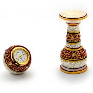 Meenakari Work Marble Pillar Watch