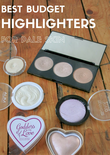 Budget Highlighters for pale skin