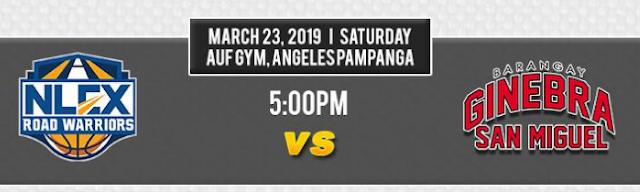 PBA Box Score and Results: NLEX vs. Ginebra - March 23, 2019